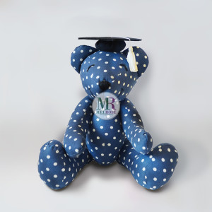 Blue Bear with Graudation Hat