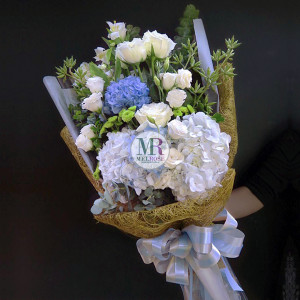 Blue Sky Hand-tied Bouquet