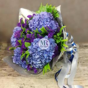 Hydrengea Ocean Hand-tied Bouquet