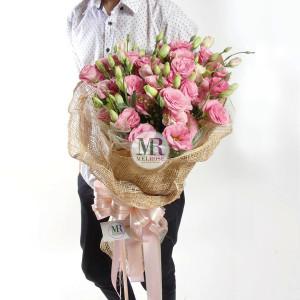 Paradise Pink Lisainthus Bouquet