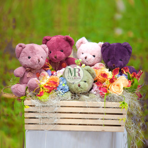 Baby Bears flower & Gift Basket