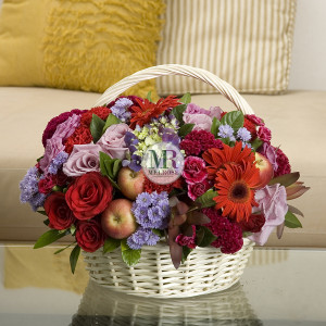 Wonderfully Red Flower Basket