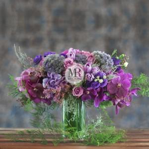 Elegant Violet Flowers Arrangement