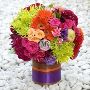 Be Happy Flower Vase