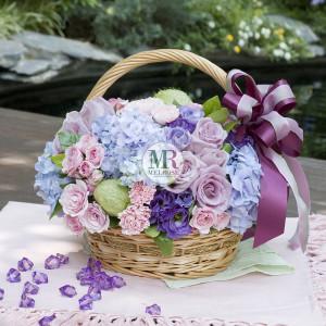 Elegance Pastel Flower Basket