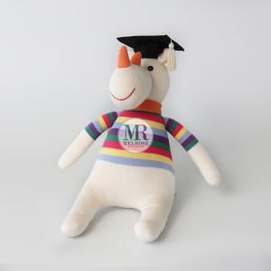 White Rhino Doll with Graduation Hat