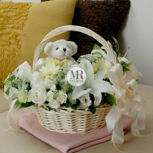 With Love Bear and Mixed Flowers
