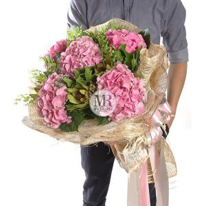 Elegance Pink Hydrengea Bouquet