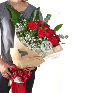 Elegance Kenya Red Rose Bouquet