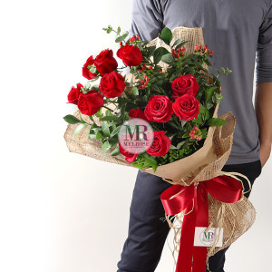 All for Love Red Rose Bouquet