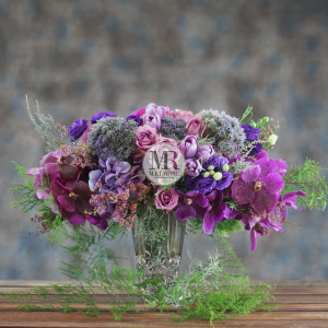 Elegant Violet Flowers Arrangement