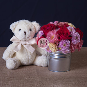 Mr.Bear and A Jar of Flowers