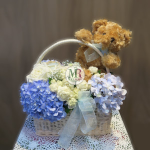True Love - Bear and Flower Basket