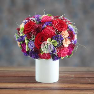 Vivid Red-Violet Flower Arrangment