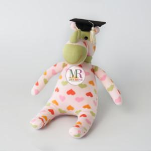 Pink Rhino Doll with Graduation Hat